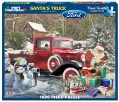 Santas Truck Winter Jigsaw Puzzle