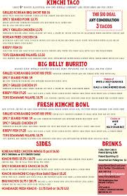 100 Big Truck Taco Menu Kimchi New York Food Association