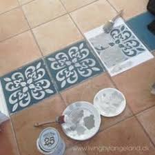 chalk paint皰 decorative paint used to enhance tile floors