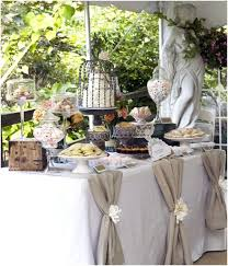 Source Confetti Day Dreams Chic Rustic Burlap Wedding Dessert Table Ideas