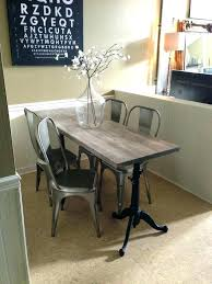 Long Bench Dining Table Skinny Astonishing Colors From Narrow Bar Height Within Kitchen Tables Prepare