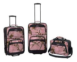 Realtree Camo Bathroom Set by Team Realtree Pink Camo 3 Piece Luggage Set For The Home