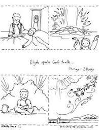 1 Kings Story Of Elijah Coloring Sheet