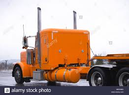 100 Truck Tractor Huge Powerful Big Classic Stylish Old Time Orange Rig Safe Semi