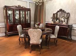 runder esszimmer rund tisch holz tische runde e70 klassisch barock rokoko neu