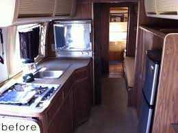 Before After Airstream Trailer Makeover DesignSponge