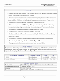 20 Testing Resume For 3 Years In Experience