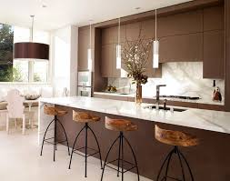 Kitchen Room Design Ideas Interesting Marble Rustic Modern Tile Patterns Backsplash Combining With Brown Colors Cabinet Also Islands