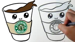 28 Collection Of Starbucks Drawing Easy Step By