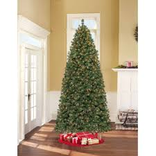 9 Ft Flocked Pre Lit Christmas Tree by Holiday Time 7 5ft Pre Lit Winter Frost Pine Tree Walmart Com