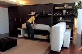 canap avec biblioth que int gr e lit escamotable modèle atoll 2 esprit rangement