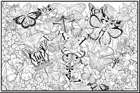 Amazing Printable Adult Coloring Pages Butterflies With Book For Adults And
