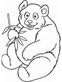 Panda With Bamboo Coloring Page