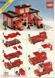 LEGO 6382 Fire Station Set Parts Inventory And Instructions - LEGO ...