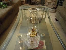 Lamplight Farms Oil Lamp by Vintage Lamplight Farms Kerosene Lamp Clear Glass Base For Sale