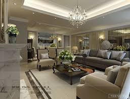 Opulent Classy Living Room Neutral Tones Two Identical Rooms