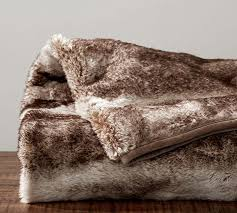 Faux Fur Oversized Throw Caramel Ombre