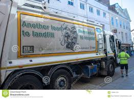 Rubbish Truck With Recycling Sign Editorial Stock Image - Image Of ...