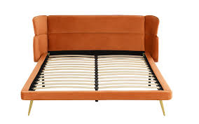 Lumi Contemporary Velvet Upholstered Bed Frame With Slats, Rust ... Riad Leather Floor Pillow Material Objects Lovely Pinterest Classic Accsories Montlake Heather Henna Outdoor Frameless Living Room Chairs Accent Lazboy Faux Bean Bag Chair Tan Club Amazoncom Cozy Signature Cover Without Rust Genuine Bags Ebay Seedupco Temple Webster Sofa Lounger Ottoman Set Pri Gray Arm With Ds22789005 The Home Depot Niya Mid Century Modern 4 Piece Sectional Gdf Lumi Contemporary Velvet Upholstered Bed Frame Slats Recliner Lounge And In Blue At 1stdibs
