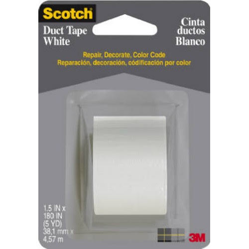 "Scotch White Duct Tape - 1.5"" x 5 Yards"