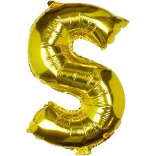 Large Pick And Mix Gold Foil Letter S Balloon Hobbycraft