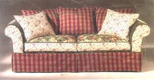 Cindy Crawford Denim Sofa by Slipcovers For Rowe 6750 96