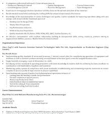 Manufacturing Job Resume Production Samples For Jobs