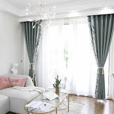 moderne blätter design stitching blackout vorhänge für wohnzimmer schlafzimmer rot grau vorhänge raumteiler