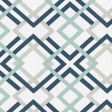 Navy Geometric Pattern Curtains by Navy And Gray Geometric Fabric By The Yard Carousel Designs