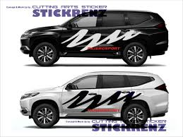100 Custom Stickers For Trucks Car Side Cutting Sticker Concept Pajero 007 Banteng