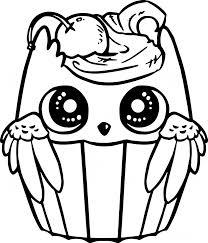 Cupcake Owl Drawing
