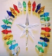 50 Replacement Large Ceramic Christmas Tree Twist Light Bulbs And Star 1 Of 2 See More