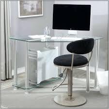 desk small glass corner desk glass metal corner computer desk