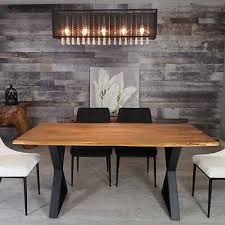 Zen Acacia Live Edge 1702 Cm 67 In Dining Table With Black X Legs
