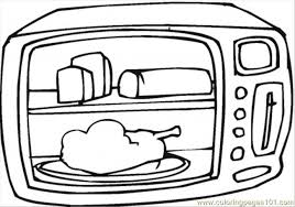Cooking Chicken In Microwave Coloring Page