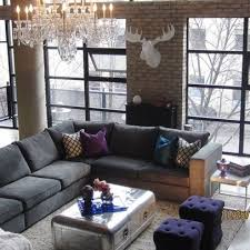 grey sectional living room stylish simple interior home design ideas