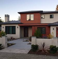 100 Modern Stucco House Home With Rustcolored Siding Homes