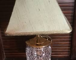 Square Crystal Lamp Finials by Waterford Lamp Etsy