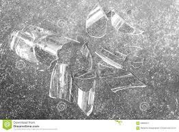 Download Broken Glass On Cement Floor Stock Image