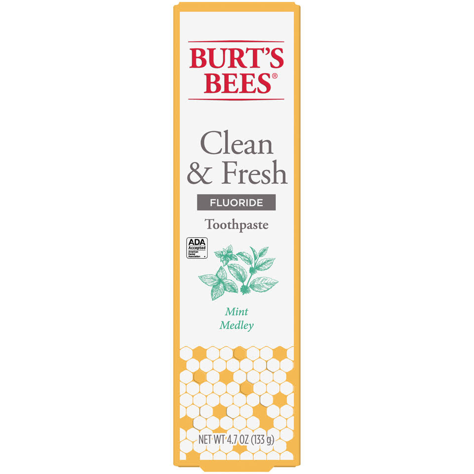 Burt's Bees Clean and Fresh Mint Medley Toothpaste - with Fluoride