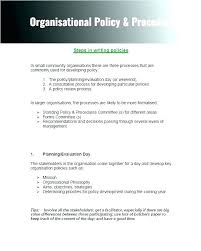 Office Policy And Procedures Template Writing Policies Printable Employee Unique