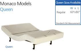 Sleep Comfort Adjustable Bed by Monaco Adjustable Bed Craftmatic Adjustable Beds