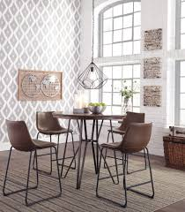 Mestler Side Chair By Ashley by Centiar Round Drm Counter Table U0026 4 Uph Barstools Dining Tables