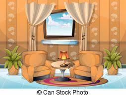 wohnzimmer abbildung vektor inneneinrichtung karikatur
