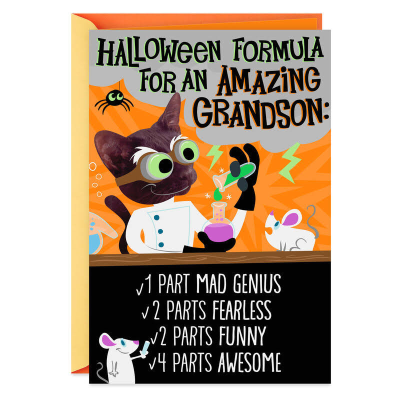 Formula for An Amazing Grandson Halloween Card