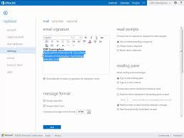 Signatures fice 365 Outlook Web App Email