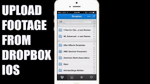 How to and Upload Video from Dropbox iPhone app