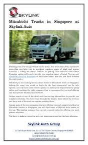 100 Mitsubishi Commercial Trucks Trucks In Singapore At Skylink Auto