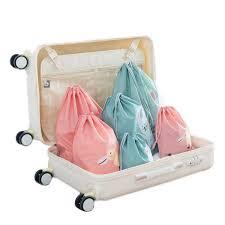IPReeTM 3 Pcs Storage Bundle Bags Waterproof Drawstring Clothing Packing Cartoon Cute Outdoor Travel