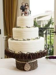 Rustic Cupcake Stand Wood Slab Cake Stand Wood Slice County